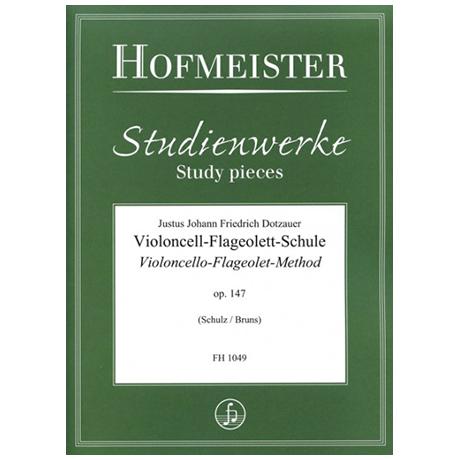 Dotzauer, J.J.F.: Violoncell-Flageolett-Schule Op.147