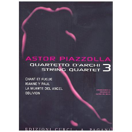 Piazzolla für Streichquartett Band 3
