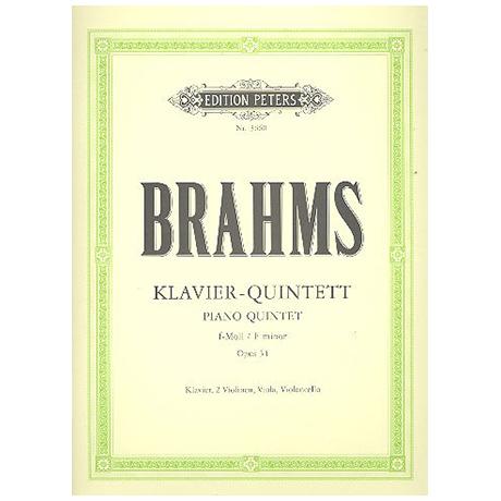 Brahms, J.: Klavierquintett f-moll, op. 34