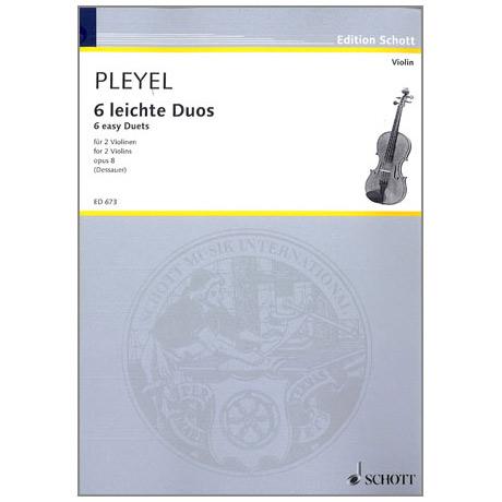Pleyel, I.J.: Duos op. 8 für 2 Violinen