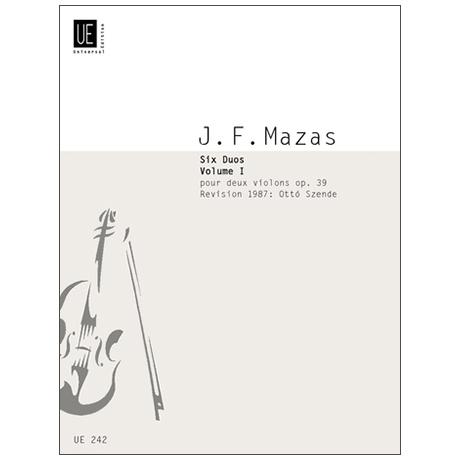 Mazas, J. F.: 6 Duos für 2 Violinen Op. 39 – Teil 1