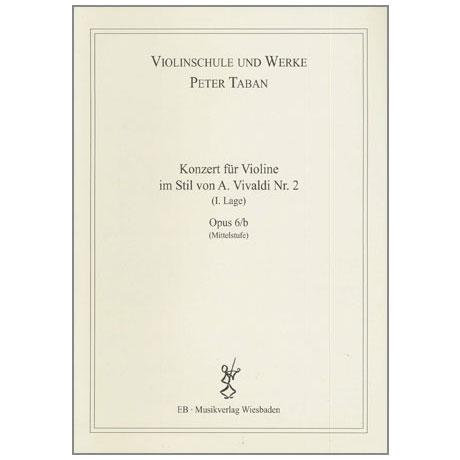 Taban, P.:  Violinkonzert im Stil von A. Vivaldi Nr. 2 Op. 6/b