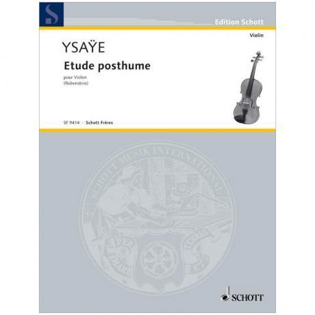 Ysaÿe, E.: Etude posthume (1886)