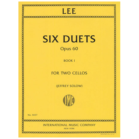 Lee, S.: 6 Duets Op.60 Band 1 (Nr.1-3)