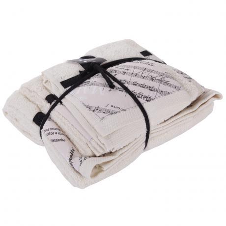 Set des serviettes Musicale