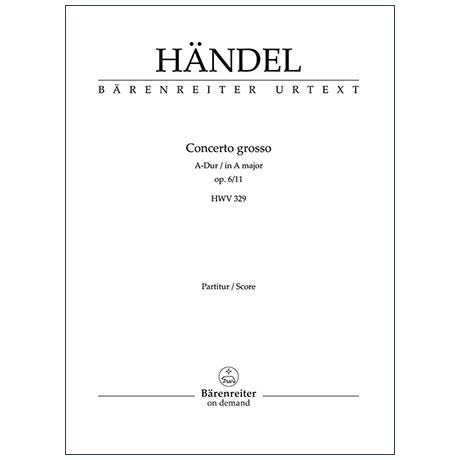 Händel, G. F.: Concerto grosso A-Dur Op. 6/11 HWV 329