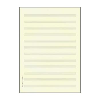 STAR Papier à musique double feuille DIN A4 format portrait