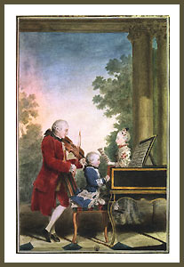 Carte postale 3 Mozarts