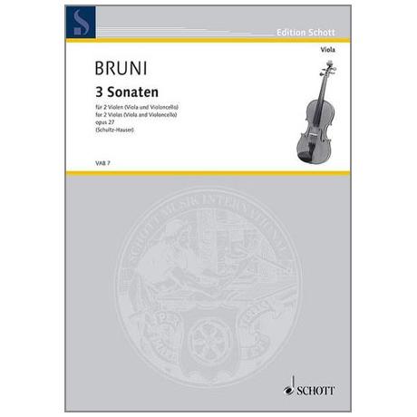 Bruni, A. B.: 3 Violasonaten Op. 27