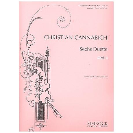 Cannabich, C.: 6 Duette Band 2 (Nr. 4-6)