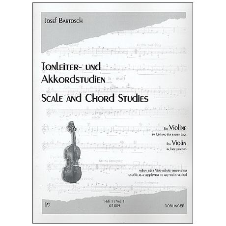 Bartosch, J.: Tonleiter- und Akkordstudien für Violine Heft 2