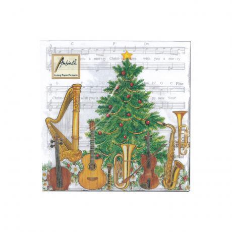 Serviettes Musique Noël