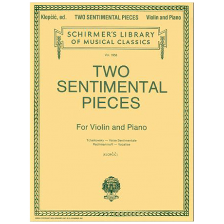 Tschaikowski, P. I. / Rachmaninoff, S.: Two Sentimental Pieces