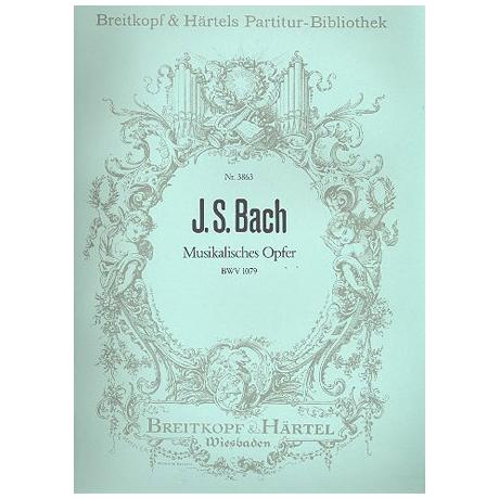 Bach, J.S.: Musikalisches Opfer BWV 1079 für Vl, Va, Vc, Kb, Flöte + Cembalo
