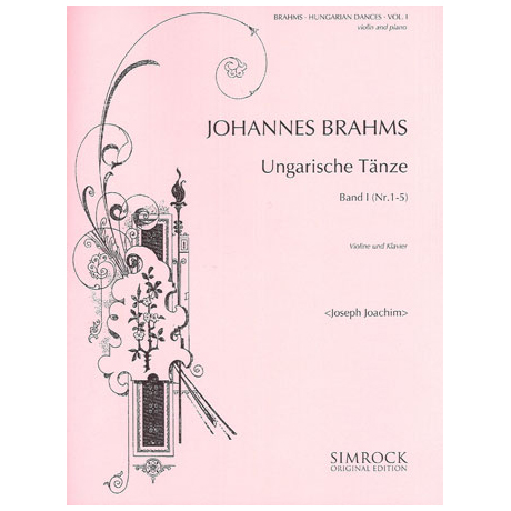 Brahms, J.: Ungarische Tänze Band 1 (Joachim)