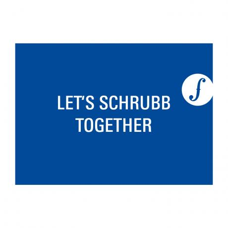 Carte postale LET´S SCHRUBB TOGETHER