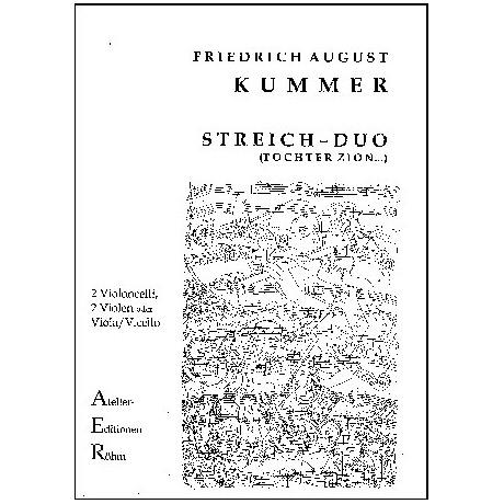 Kummer, F. A.: Duo Op. 156, G-Dur, Variationen über die Melodie Tochter Zion...
