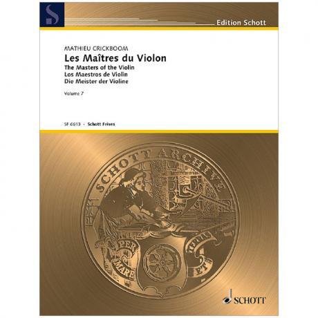 Crickboom, M.: Les Maîtres du Violon Vol. 7