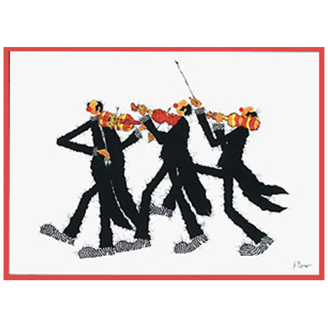 Carte postale 3 violons