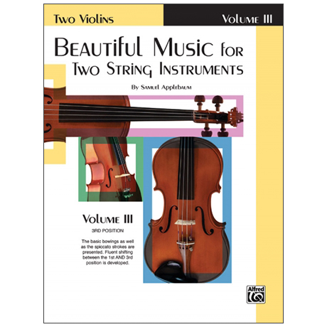 Applebaum, S.: Beautiful Music for two String Instruments Vol. 3 – Violin