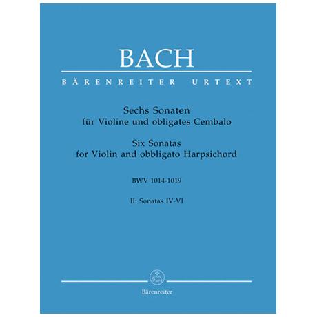 Bach, J. S.: 6 Violinsonaten Band 2 (Nr. 4-6) BWV 1017 - 1019