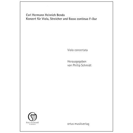 Benda, C. H. H.: Violakonzert F-Dur – Stimmensatz