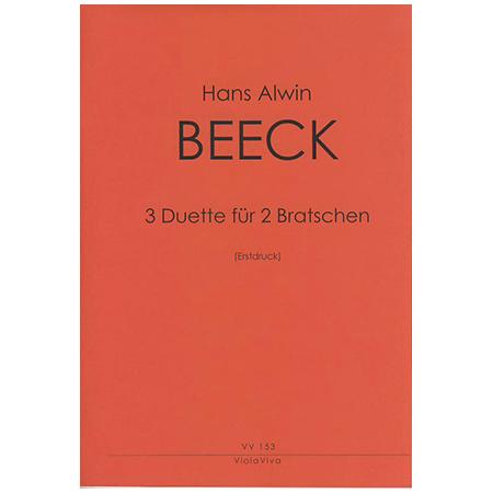Beeck, H. A.: 3 Duette für zwei Bratschen