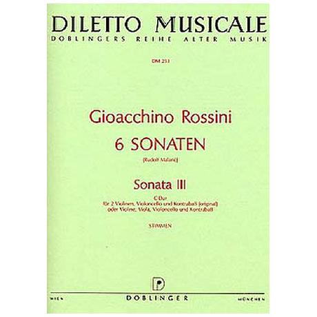 Rossini, G. A.: Sonata Nr. 3 C-Dur – Stimmen
