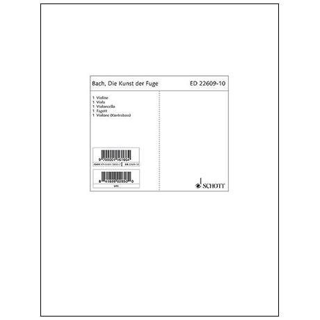 Bach, J. S.: Die Kunst der Fuge BWV 1080 – Stimmensatz