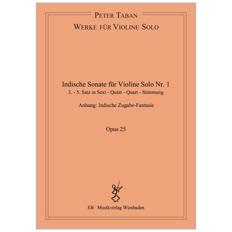 Taban, P.: Indische Sonate Nr. 1 Op. 25