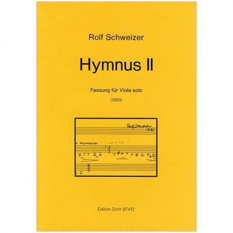 Schweizer, R.: Hymnus II »Der du bist drei in Einigkeit« (1989)