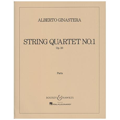 Ginastera, A.: Streichquartett Nr. 1 Op. 20 – Stimmen