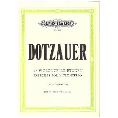 Dotzauer, J. J. F.: 113 Etüden Band 4 (Nr. 86-113)