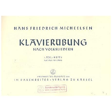 Micheelsen, H. F.: Klavierübung nach Volksliedern, Heft 2