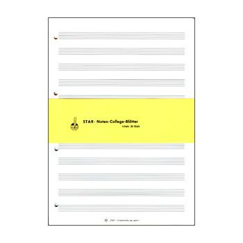 STAR Papier à musique feuilles mobiles DIN A4 format portrait