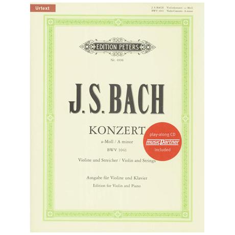 Bach, J. S.: Violinkonzert Nr. 1 BWV 1041 a-Moll Urtext (+CD)