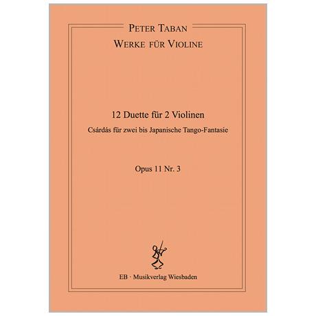 Taban, P.: 12 Duette Op. 11/3