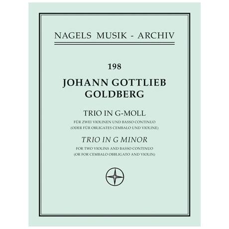Goldberg, J. G.: Triosonate Nr. 5 g-Moll
