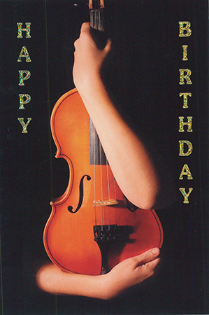 Carte postale Happy Birthday Violon