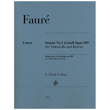 Fauré, G.: Violoncellosonate Nr. 1 Op. 109 d-Moll