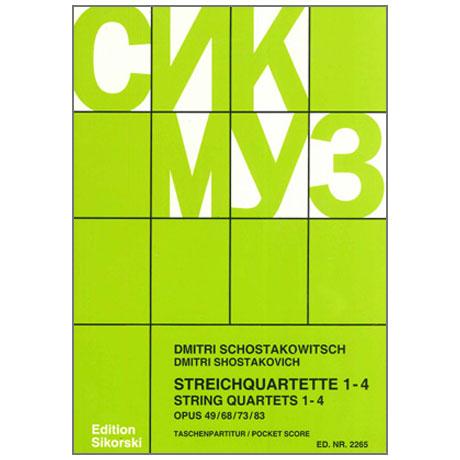Shostakovich, D.: String Quartets Nos. 1-4