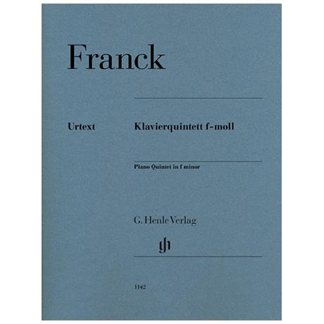 Frank, C.: Klavierquintett f-Moll