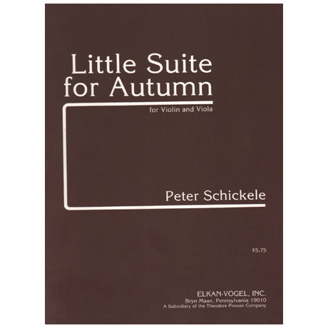 Schickele, P.: Little Suite for Autumn