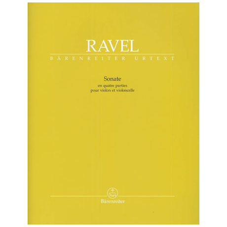 Ravel, M.: Sonate in vier Teilen - »en quatre parties«