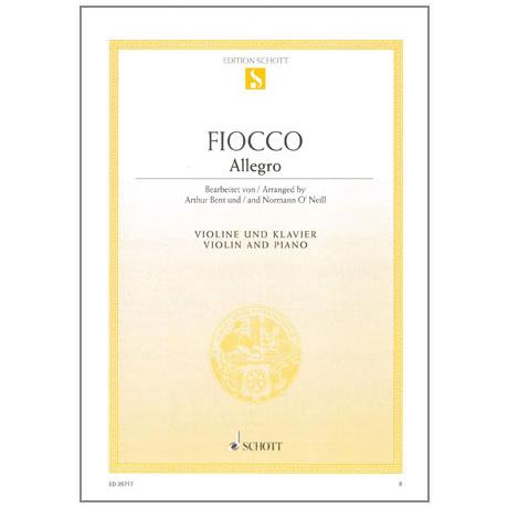 Fiocco, J-H.: Allegro für Violine und Klavier