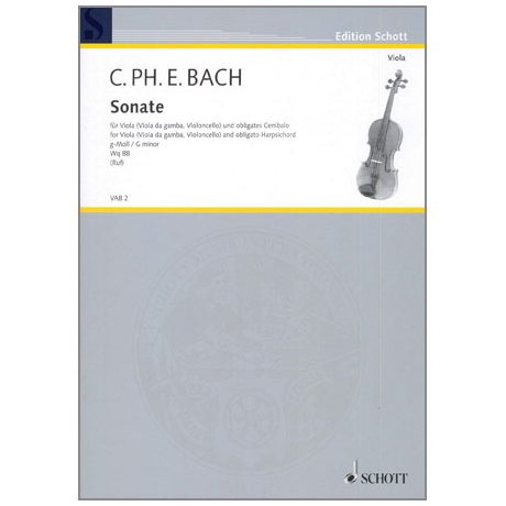 Bach, C. Ph. E.: Violasonate g-Moll