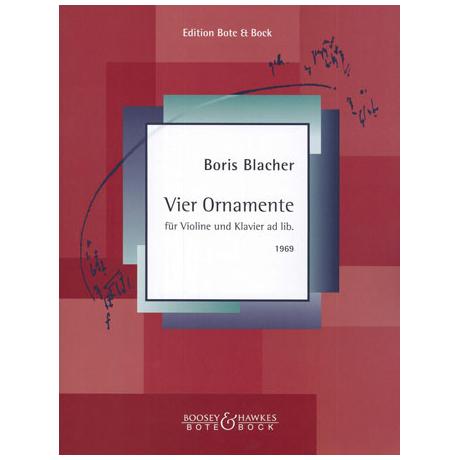 Blacher, B.: Vier Ornamente