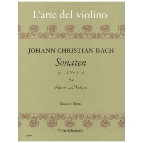 Bach, J. Chr.: Violinsonaten Op. 15/3-4