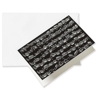 Carte de voeux NOTES noire