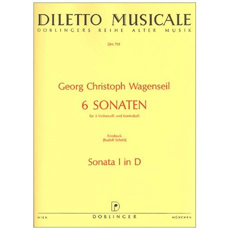 Wagenseil, G. C.: 6 Sonaten Band 1 Nr. 1 D-Dur